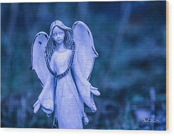 Angel Of The Rain Wood Print
