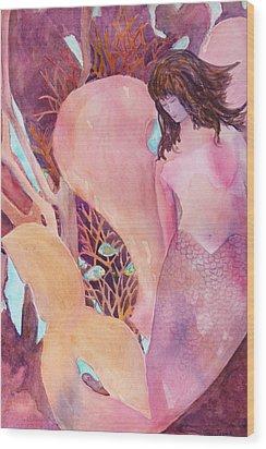 Angel Of The Sea Wood Print by Teri  Jones
