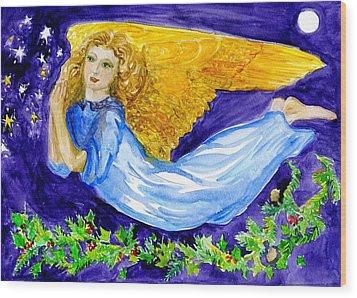 Angel Of The Skies Wood Print