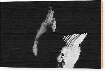 Wood Print featuring the photograph Angel Of Thought  by Jessica Shelton