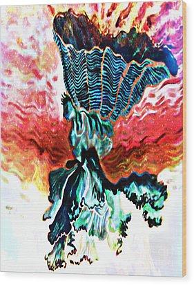Angel Solar Wood Print by Genevieve Esson