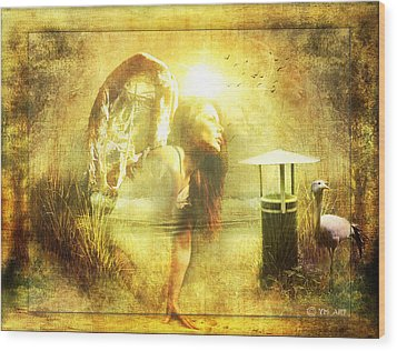 Angel Spirit Wood Print by Yvon van der Wijk