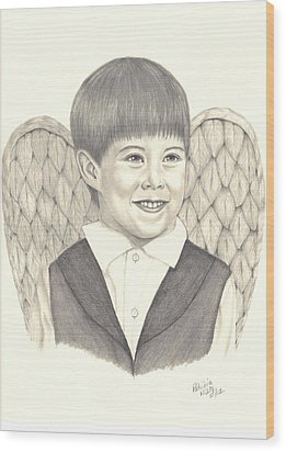 Angel Too Wood Print by Patricia Hiltz