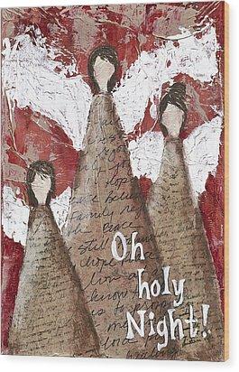 Angel Trio Wood Print