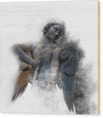 Angel Warrior Wood Print by Evie Carrier