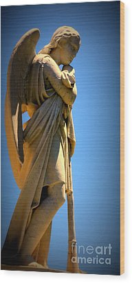 Angel Watching Wood Print by Lisa L Silva