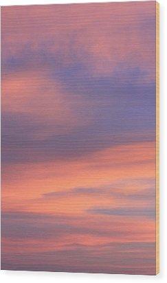 Angeles Crest Sunset Wood Print by Sarah Vandenbusch