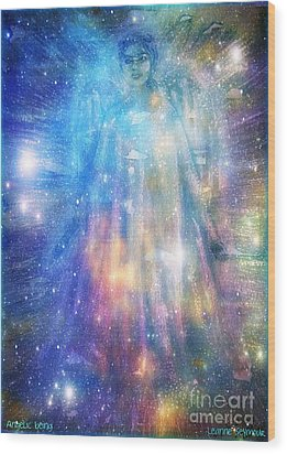 Wood Print featuring the painting Angelic Being by Leanne Seymour