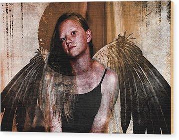 Angelic Eclipse Wood Print