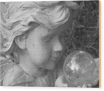Angelic Gaze Wood Print by Bruce Carpenter