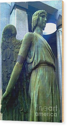 Wood Print featuring the photograph Angelic Guard by Michael Hoard