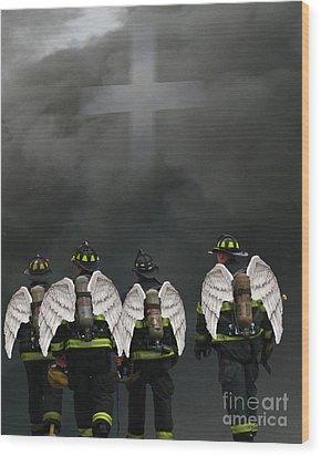 Angelic Heroes Wood Print