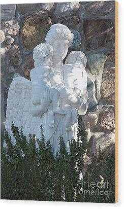 Angelic Motherhood Wood Print