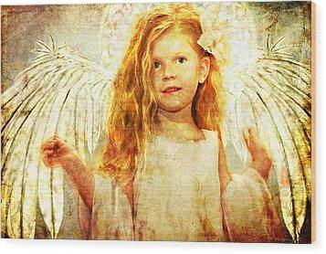 Angelic Wonder Wood Print