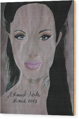 Angelina Wood Print by Fladelita Messerli-