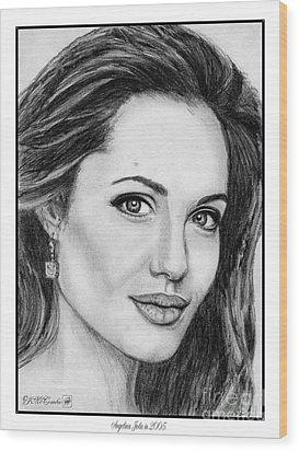 Angelina Jolie In 2005 Wood Print by J McCombie