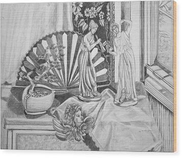 Angels And Greek Goddess Wood Print by Susan Culver