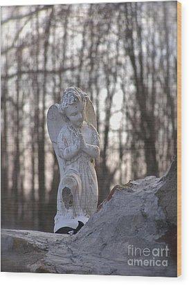 Angels Are Everywhere Wood Print