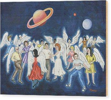 Angels Dancing Wood Print by Linda Mears
