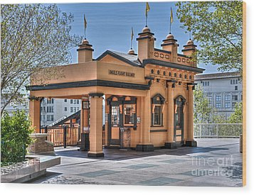 Angels Flight Landmark Funicular Railway Bunker Hill Wood Print by David Zanzinger