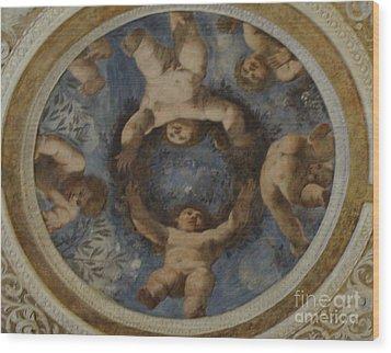 Angels In Castello Del Buonconsiglio Wood Print