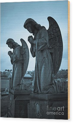 Angels In Prayer Wood Print by Amy Cicconi