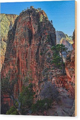 Angel's Landing Wood Print by Chad Dutson