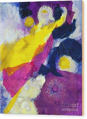 Angels Surround Me Wood Print by Kathy Braud