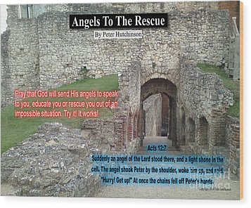 Angels To The Rescue Wood Print