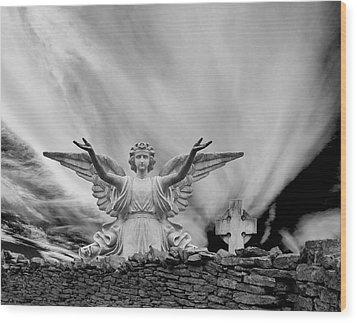 Angels Welcome Wood Print by Wendell Thompson