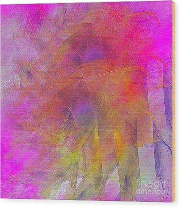 Wood Print featuring the digital art Angels Wings by Alexa Szlavics