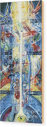 Angels Wood Print by Yael Avi-Yonah