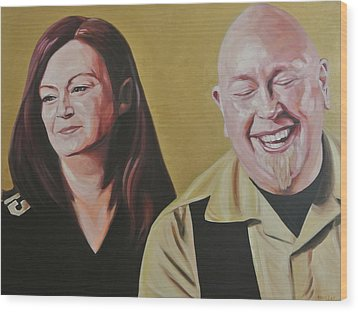 Angie And Aaron Wood Print