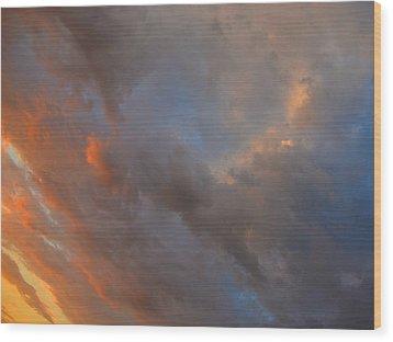 Angle Color Wood Print by Dennis James