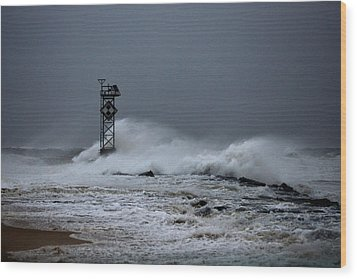 Wood Print featuring the photograph Angry Ocean In Ocean City by Bill Swartwout