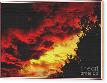 Angry Skies Wood Print by James C Thomas