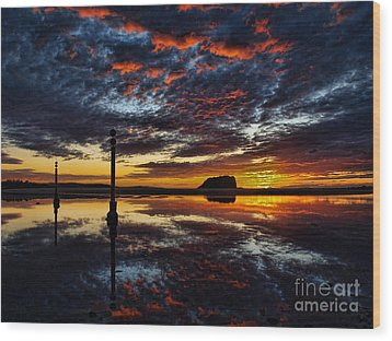 Wood Print featuring the photograph Angry Sky by Trena Mara