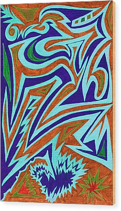 Anguished Love Wood Print by Kenneth James