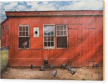 Animal - Bird - Bird Watching Wood Print by Mike Savad