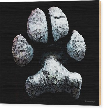 Animal Lovers - South Paw Wood Print by Sharon Cummings