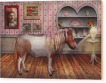 Animal - The Pony Wood Print by Mike Savad