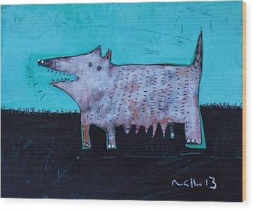 Animalia Canis No. 7  Wood Print by Mark M  Mellon