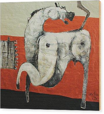 Animalia  Equos No 3 Wood Print