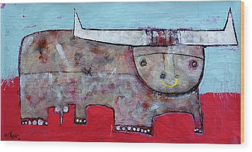 Animalia  Taurus 1 Wood Print