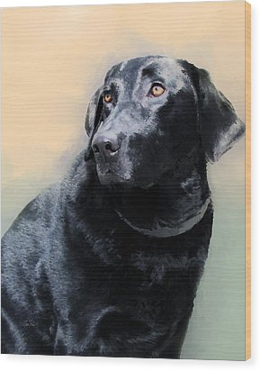 animals - dogs- Loyal Friend Wood Print by Ann Powell