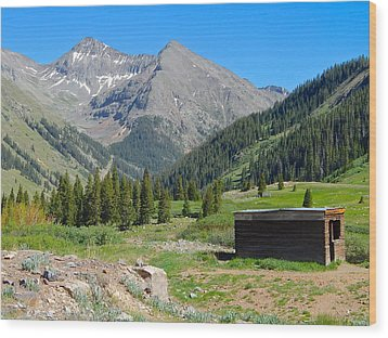 Animas Forks Jail Wood Print by Dan Miller