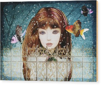 Aniolina Felicslawa Wood Print
