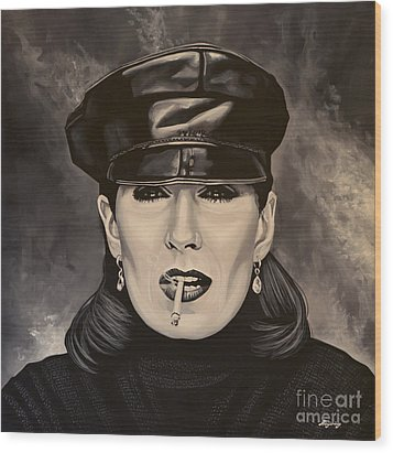 Anjelica Huston Wood Print by Paul Meijering