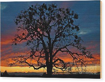Wood Print featuring the photograph Ankeny Hill Sunset by Nick  Boren
