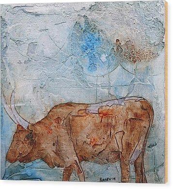 Ankole Cow Wood Print by Ronex Ahimbisibwe